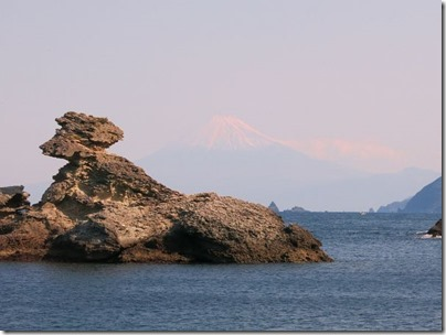 雲見から見た富士山